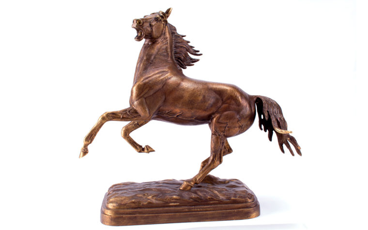 Bronze sculpture Rearing Horse