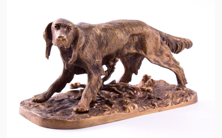 Bronze sculpture Setter Dog by Pierre Jules Mene (copy)