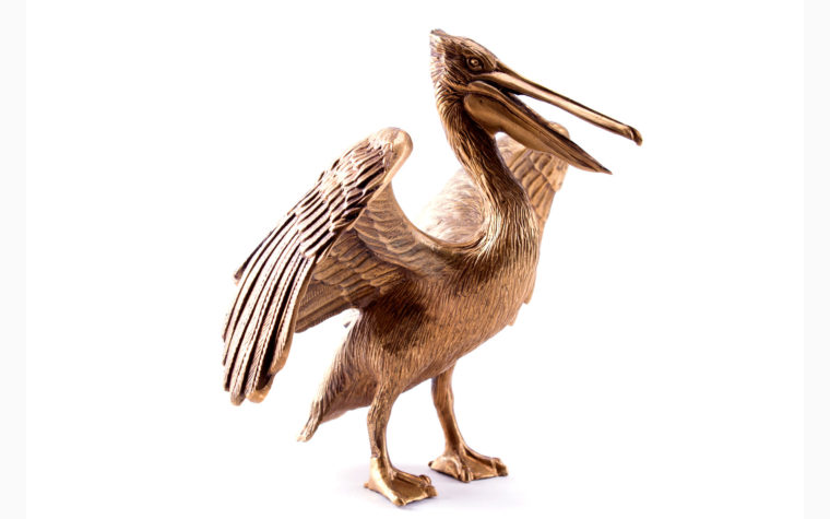 Bronze sculpture Pelican