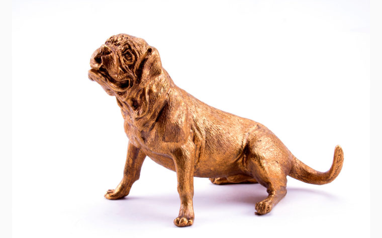 Bronze sculpture Bordeaux Mastiff