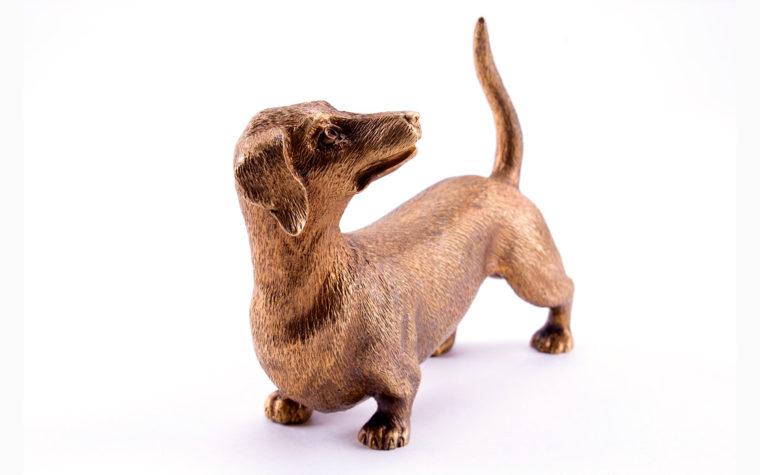 Bronze statuette Dachshund