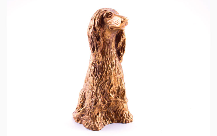 Bronze sculpture Afghan Hound