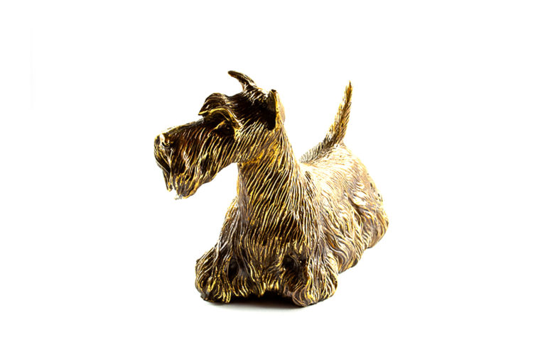 Bronze sculpture Scottish Terrier