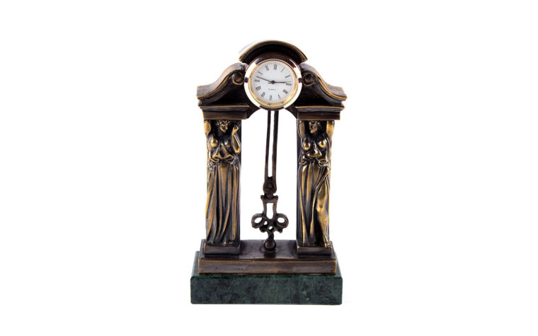 Bronze clock Caryatids