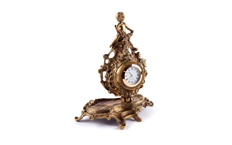 Bronze clock  Rococo