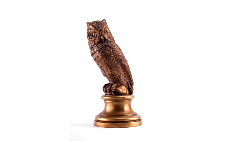Bronze sculpture Owls