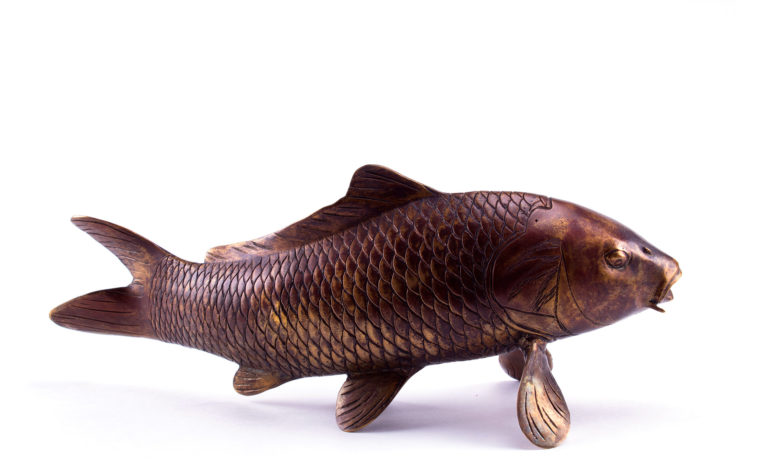 Bronze sculpture Big carp