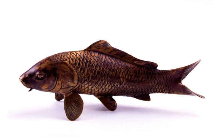 Bronze statuette Carp
