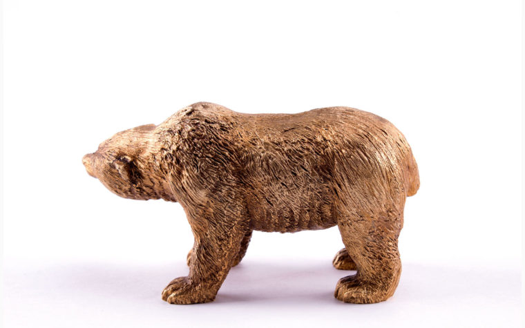 Bronze miniature sculpture The Bear