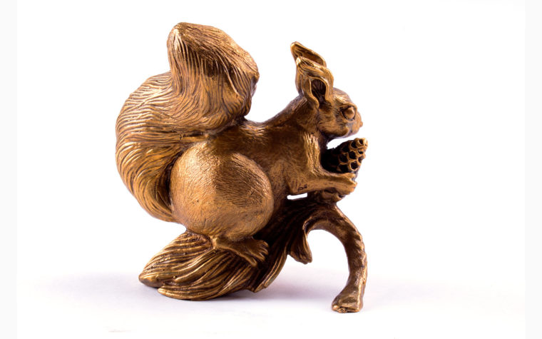 Bronze statuette Squirrel
