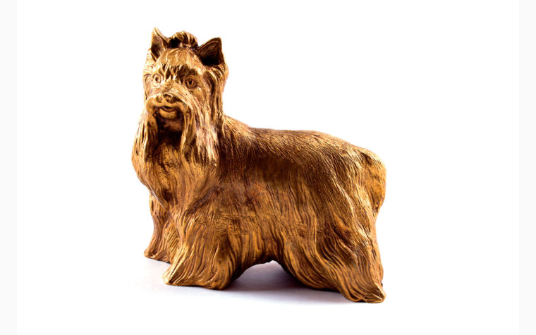 Bronze sculpture Yorkshire Terrier