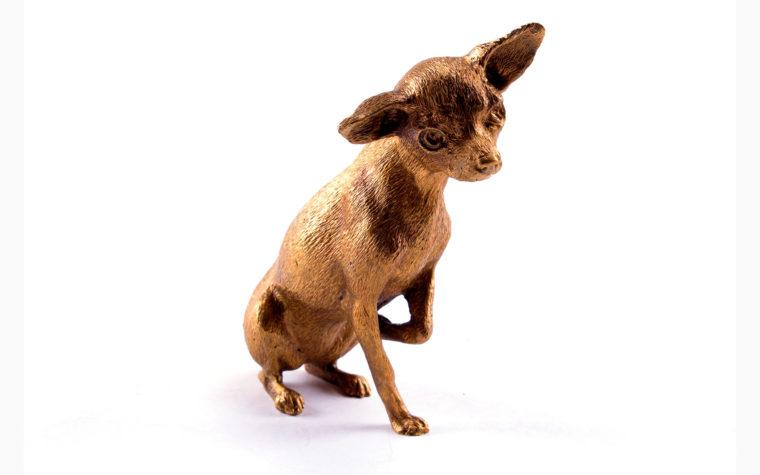 Bronze statuette Silky Terrier