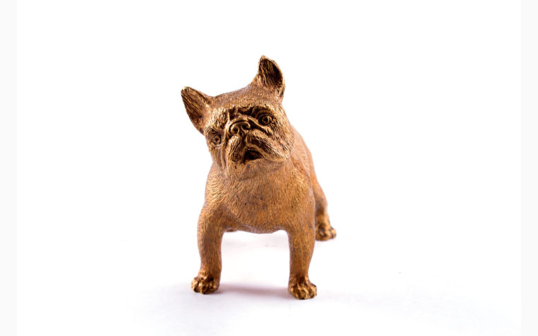 Bronze sculpture French Bulldog