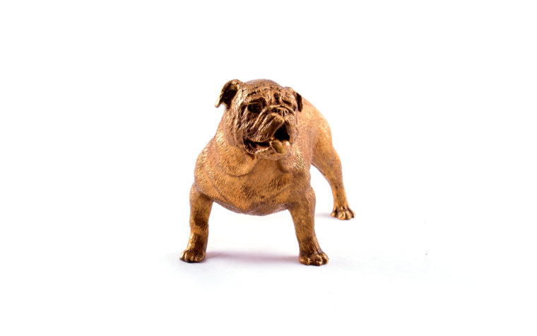 Bronze sculpture English Bulldog