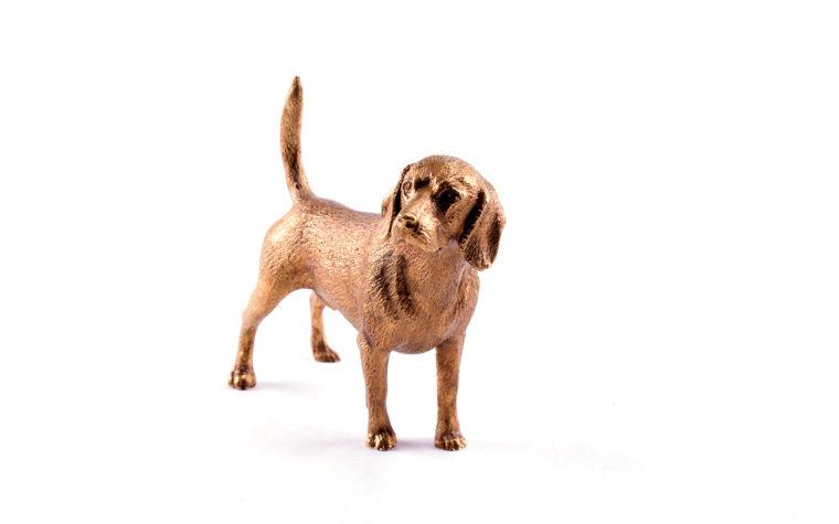 Bronze statuette Beagle