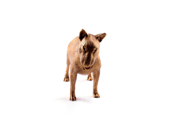 Bronze statuette English Bull Terrier
