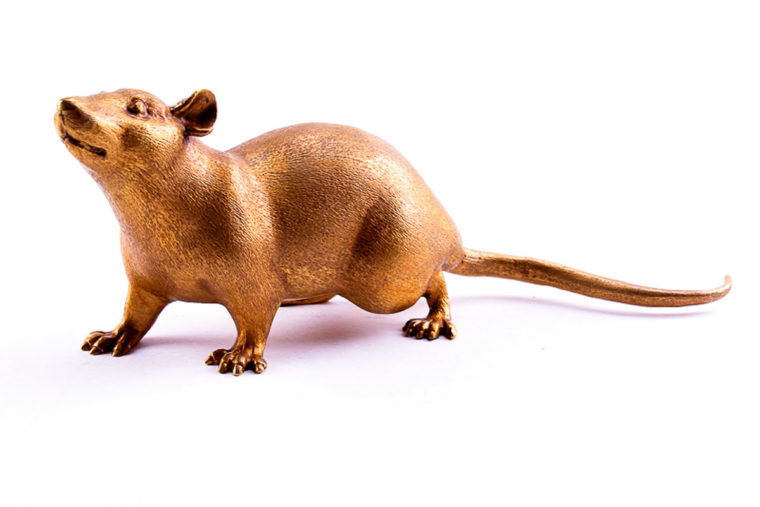 Bronze sculpture  Rat