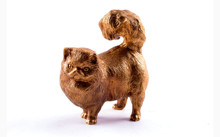 Bronze statuette  cat Maine Coon