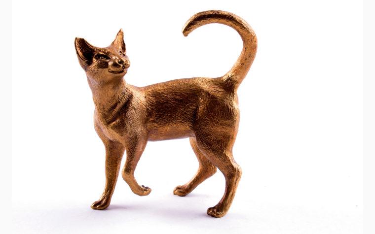 Bronze statuette Siamese cat