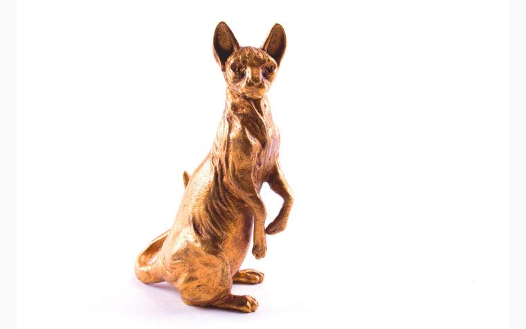 Bronze statuette Sphynx cat