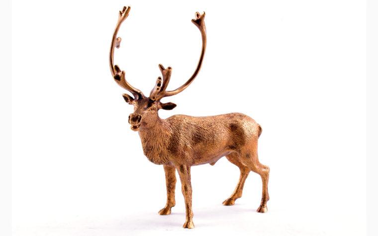 Bronze sculpture Reindeer