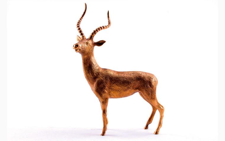 Bronze statuette Impala antelope