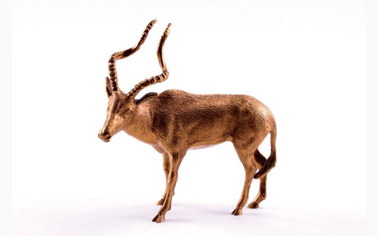 Bronze statuette Addax ( white antelope)