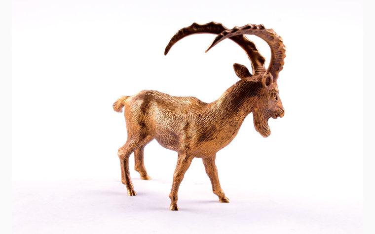 Bronze statuette Bezoar ibex