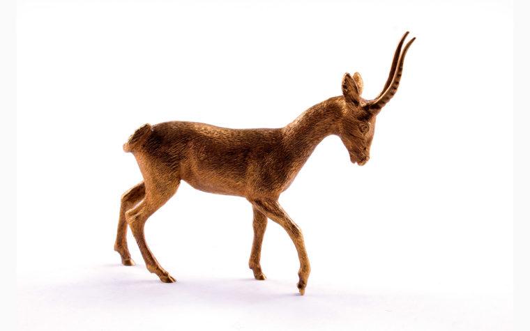Bronze statuette Thomson's gazelle