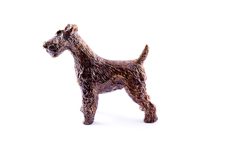 Bronze sculpture Fox Terrier
