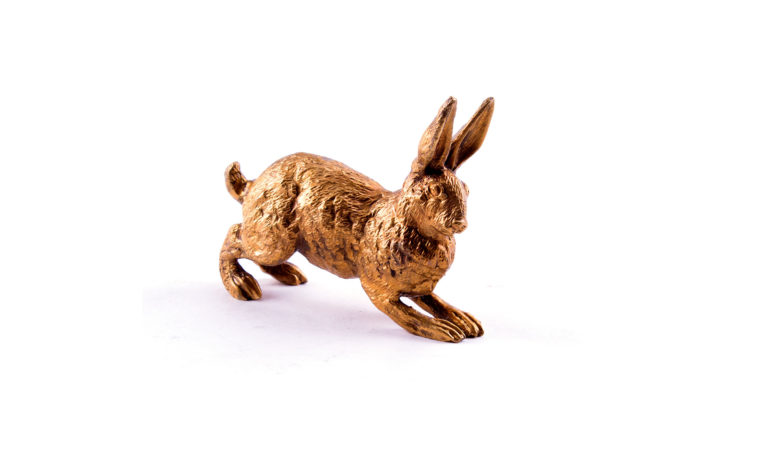 Bronze miniature figurine  Rabbit