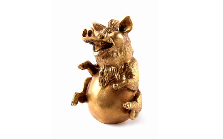 Bronze statuette Happy Boar