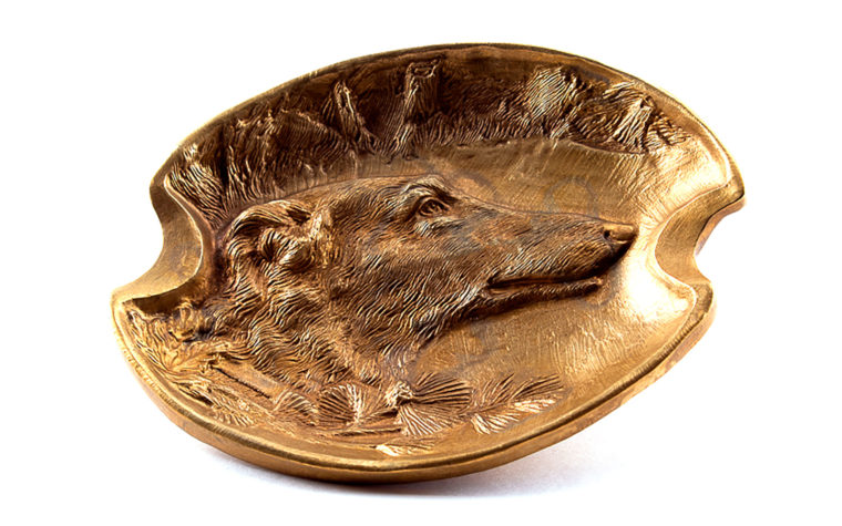 Bronze ashtray, Greyhound