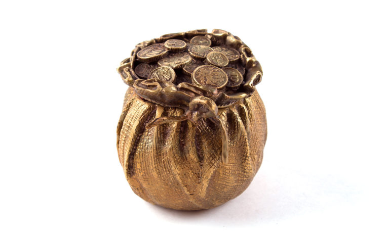 Bronze casket Money Bag