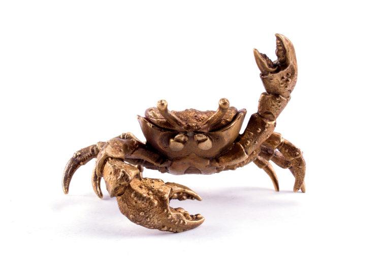 Bronze casket  Crab